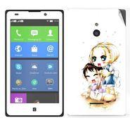 Snooky 39313 Digital Print Mobile Skin Sticker For Nokia XL - White