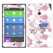 Snooky 39316 Digital Print Mobile Skin Sticker For Nokia XL - White