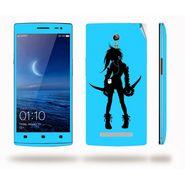 Snooky 39346 Digital Print Mobile Skin Sticker For OPPO Find 7 X9076 - Blue