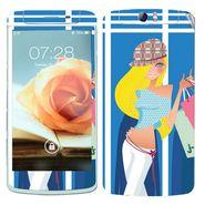 Snooky 39371 Digital Print Mobile Skin Sticker For OPPO N1 - Blue