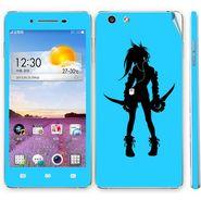 Snooky 39382 Digital Print Mobile Skin Sticker For OPPO R1 R829t  - Blue