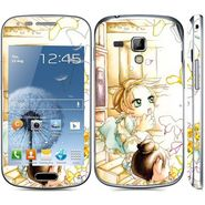 Snooky 39401 Digital Print Mobile Skin Sticker For Samsung Galaxy S Duos 7562 - White