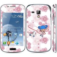 Snooky 39412 Digital Print Mobile Skin Sticker For Samsung Galaxy S Duos 7562 - White
