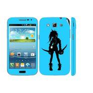 Snooky 39418 Digital Print Mobile Skin Sticker For Samsung Galaxy Grand Quattro 8552 - Blue