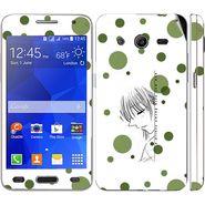 Snooky 39441 Digital Print Mobile Skin Sticker For Samsung Galaxy Core 2 G355h - White