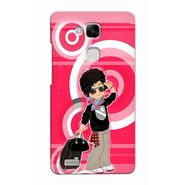 Snooky 37479 Digital Print Hard Back Case Cover For huawei Ascend Mate 7 - Rose Pink