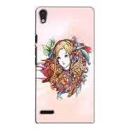 Snooky 38308 Digital Print Hard Back Case Cover For Huawei Ascend P6 - Multicolour