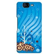 Snooky 35431 Digital Print Hard Back Case Cover For Micromax Canvas Knight A350 - Blue