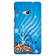 Snooky 38062 Digital Print Hard Back Case Cover For Microsoft Lumia 535 - Blue