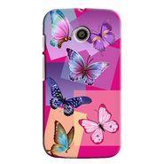 Snooky 35834 Digital Print Hard Back Case Cover For Motorola Moto E - Pink