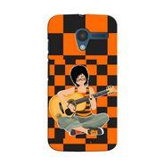 Snooky 35857 Digital Print Hard Back Case Cover For Motorola Moto X - Black