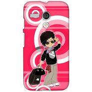 Snooky 38579 Digital Print Hard Back Case Cover For Motorola Moto G - Rose Pink
