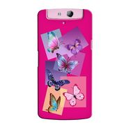 Snooky 36804 Digital Print Hard Back Case Cover For Oppo N1 Mini N5111 - Pink