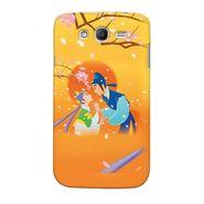 Snooky 35487 Digital Print Hard Back Case Cover For Samsung Galaxy Grand 2 - Orange