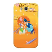 Snooky 35537 Digital Print Hard Back Case Cover For Samsung Galaxy Grand Duos I9082 - Orange