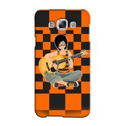 Snooky 36427 Digital Print Hard Back Case Cover For Samsung Galaxy E5 - Black