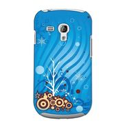 Snooky 36862 Digital Print Hard Back Case Cover For Samsung Galaxy S3 Mini - Blue