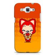 Snooky 38261 Digital Print Hard Back Case Cover For Samsung Galaxy Grand Quattro GT-I8552 - Orange