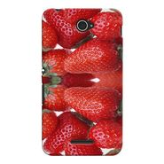 Snooky 37709 Digital Print Hard Back Case Cover For Sony Xperia E4 - Red