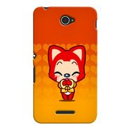 Snooky 37711 Digital Print Hard Back Case Cover For Sony Xperia E4 - Orange