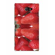 Snooky 37809 Digital Print Hard Back Case Cover For Sony Xperia M2 Dual - Red