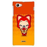 Snooky 38711 Digital Print Hard Back Case Cover For Sony Xperia J - Orange