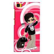 Snooky 38379 Digital Print Hard Back Case Cover For Xiaomi MI3 - Rose Pink