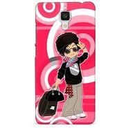 Snooky 38429 Digital Print Hard Back Case Cover For Xiaomi MI 4 - Rose Pink