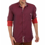 Bendiesel Plain Cotton Shirt_Bdc099 - Red