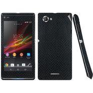 Snooky 18767 Mobile Skin Sticker For Sony Xperia L S36h C2105 - Black
