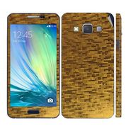 Snooky 19286 Mobile Skin Sticker For Samsung Galaxy A3 - Golden