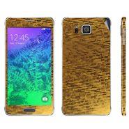 Snooky 19304 Mobile Skin Sticker For Samsung Galaxy Alpha - Golden