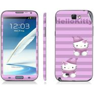 Snooky 39463 Digital Print Mobile Skin Sticker For Samsung Galaxy Note 2 N7100 - Purple