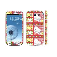 Snooky 39534 Digital Print Mobile Skin Sticker For Samsung Galaxy S3 I9300 - Pink