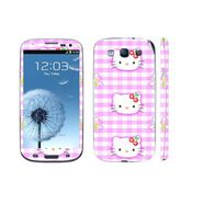 Snooky 39536 Digital Print Mobile Skin Sticker For Samsung Galaxy S3 I9300 - Pink