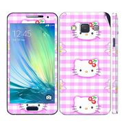 Snooky 39560 Digital Print Mobile Skin Sticker For Samsung Galaxy A3 - Pink