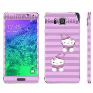 Snooky 39583 Digital Print Mobile Skin Sticker For Samsung Galaxy Alpha - Purple