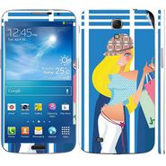 Snooky 39611 Digital Print Mobile Skin Sticker For Samsung Galaxy Mega 6.3 - Blue