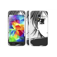 Snooky 39638 Digital Print Mobile Skin Sticker For Samsung Galaxy S5 Mini - Grey