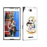 Snooky 39649 Digital Print Mobile Skin Sticker For Sony Xperia C / S39h - White