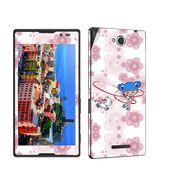 Snooky 39652 Digital Print Mobile Skin Sticker For Sony Xperia C / S39h - White