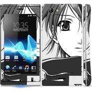 Snooky 39662 Digital Print Mobile Skin Sticker For Sony Xperia J - Grey