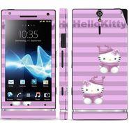 Snooky 39691 Digital Print Mobile Skin Sticker For Sony Xperia S - Purple
