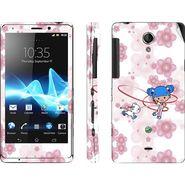 Snooky 39712 Digital Print Mobile Skin Sticker For Sony Xperia T Lt30p - White