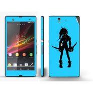 Snooky 39730 Digital Print Mobile Skin Sticker For Sony Xperia Z - Blue