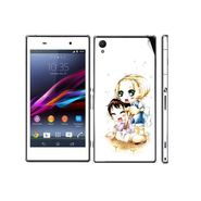 Snooky 39745 Digital Print Mobile Skin Sticker For Sony Xperia Z1 - White