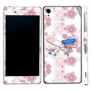 Snooky 39772 Digital Print Mobile Skin Sticker For Sony Xperia Z3 - White