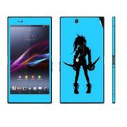 Snooky 39790 Digital Print Mobile Skin Sticker For Sony Xperia Z Ultra - Blue