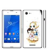 Snooky 39805 Digital Print Mobile Skin Sticker For Sony Xperia E3 Dual - White