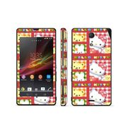 Snooky 39810 Digital Print Mobile Skin Sticker For Sony Xperia ZR - Pink